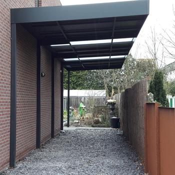 BG Carports - Schuine dakconstructie